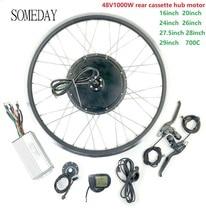 EINES TAGES E-bike Conversion kit mit LCD5 display 20 24 26 27,5 28 29 zoll 700C 48V1000W E- fahrrad BLDC hinten kassette hub motor