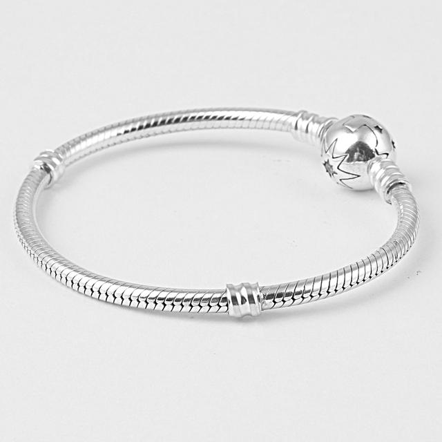 Zmzy genuine original 100% 925 cadeia de cobra de prata stertling pulseira charme mulheres diy jóias