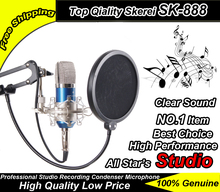 Free Shipping ! SKEREI SK-888 Recording Condenser Microphone Studio Microphone Broadcasting Computer Mic With Shock Mount Stand