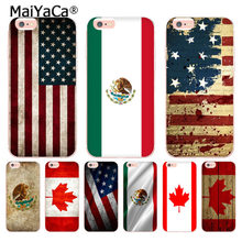 MaiYaCa Canada Mexico Verenigde Staten Vlag voor iPhone 4 5C 5 s 6 s 7 8 Plus X XR XS MAX Telefoon Gevallen transparant Soft TPU Cover Cases(China)