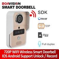 1 0MP Wifi Video Doorbell Outdoor Full Duplex Talk Wireless Door Phone Intercom Support Alarm Remote