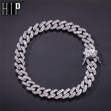 Hip Hop 8MM Bling Iced Out AAA Cubic Zirconia Bracelet Geometric CZ Stone Tennis Cuban Chain Bracelets Men Women Jewelry men women hip hop miami cuban link fully cz chain necklace copper casting micro cubic zirconia clasp iced out bling jewelry