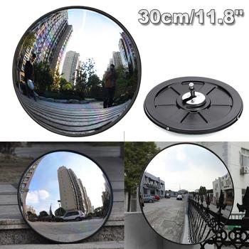 30cm szerokokątny bezpieczeństwo lustro drogowe zakrzywione do wewnątrz włamywacz bezpieczeństwo na zewnątrz bezpieczeństwo na drodze sygnalizacja świetlna wypukłe lustro tanie i dobre opinie