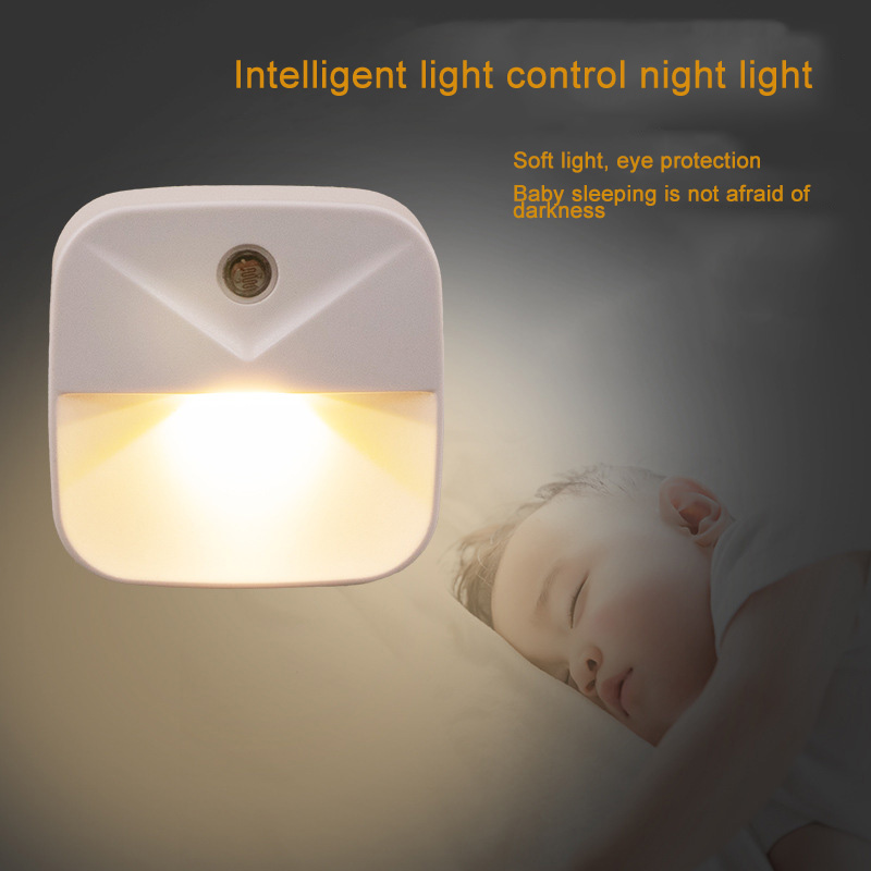 Mini Light Control Nightlights Energy Saving Night Light Plug-in Wall Lamp Baby Bedroom Night Light LED Lamp детский ночник