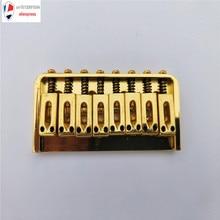 8 Stringový pevný typ Bridge Sedlo pro elektrické kytarové části s šestihranem šroubu barva zlatá