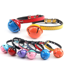 Pet Cat Collar Soft Microfiber&Leather Material Personalized Bells Kitten Puppy Safe Chihuahua Accessories Small Dog