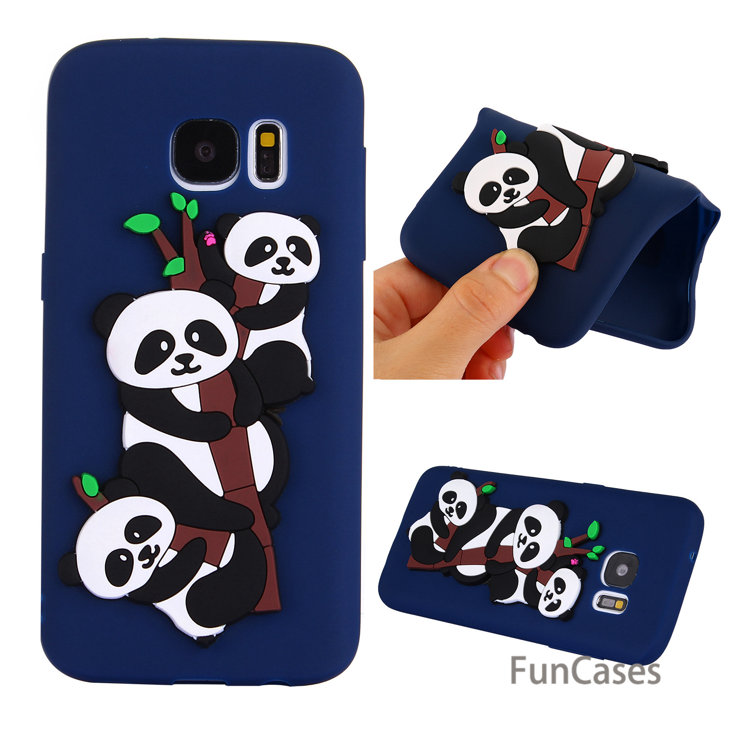 Cute Panda Case sFor Colourful Samsung S7 Soft Silicone Back Cover Cell Quotes Messages Fitted Case Samsung Galaxy S7 Skal
