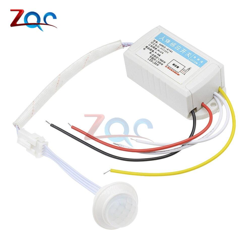 AC 110V 220V IR Infrared Module Body Sensor Intelligent Light Lamp Motion Sensing Switch Adjustable Movement Sensing PIR Switch