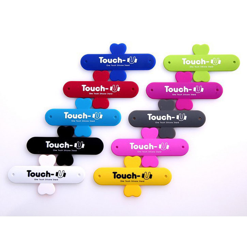 10Pcs Lot Mini Touch U One Touch Silicone Stand Finger Rings Universal Portable Phone Holder For iPhone 6 5s 7 Samsung Tablet PC in Phone Holders Stands from Cellphones Telecommunications