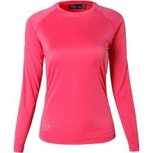 Jeansian Womens UPF50 + UV Outdoor Sport Tee Shirt T-Shirt Tshirt Long Sleeve Beach Summer SWT246 Red