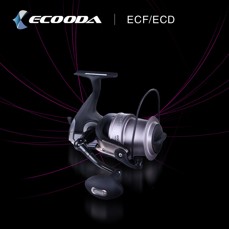 Ecooda Surf Casting Reels Spinning Reel Long Shot Fishing Reel With A Spare Metal Spool Super Strong Spinning Reel 10bb 4 1 1 7000 surf casting reel metal spinning fishing reel long shot wheel saltwater reels pesca fishing tackles