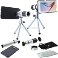 12x de Zoom Óptico Lente Del Telescopio Del Teléfono Móvil de La Cámara con el Trípode para el iphone 6 6 Plus 5S 4S NOTA 3 4 glaxy s3 s4 S5 S6 lente