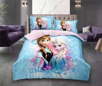 Frozen Elsa bedding sets for kids bedroom decor twin size duvet cover bed sheet 2 4 pcs girls kids home coverlets bedspread Blue