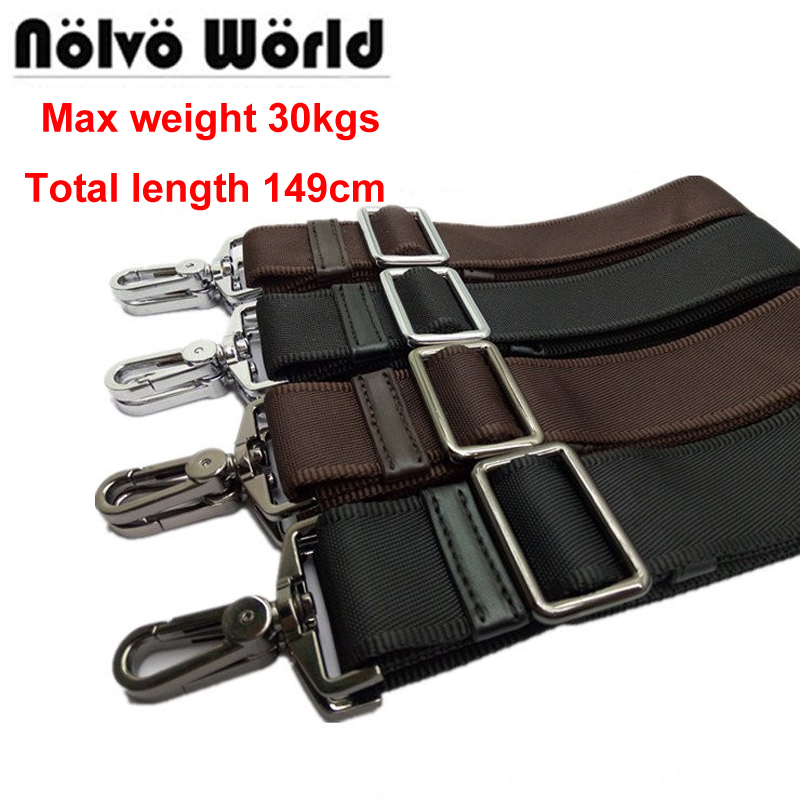 Max 149cm,38mm Width,30KGS Powerful Hook Black Brown Nylon Belt,men's Long Shoulder Strap,man Laptop Bag Straps,repair Bag Strap