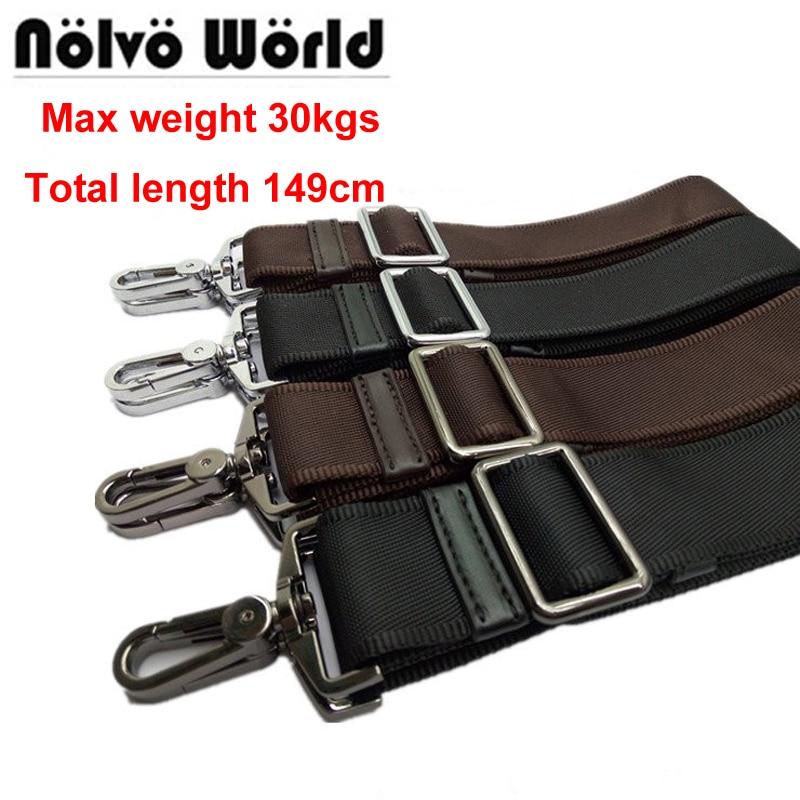 Max 149cm,38mm Width,30KGS Powerful Hook Black Brown Nylon Belt,men's Long Shoulder Strap,man Laptop Bag Straps,repair Bag Strap