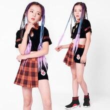 Jazz dance costume girls hip-hop street dance performances cheerleading umbilical children's catwalk show costumes