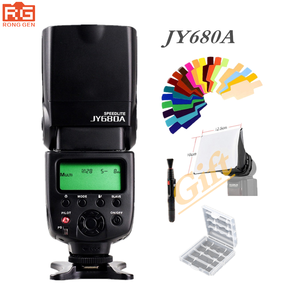 VILTROX JY-680A Universal LCD Flash Speedlight for Canon Nikon Pentax Olympus Cameras,with Free Bounce Diffuser