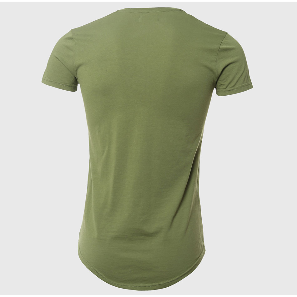 21 Colors Deep V Neck T-Shirt Men Fashion Compression Short Sleeve T Shirt Male Muscle Fitness Tight Summer Top Tees 16