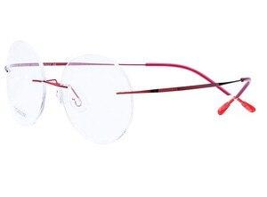 Image 5 - Eyesilove titanium rimless Reading Glasses ultra light women alloy Rimless reading eyeglasses Presbyopic glasses +1.00 to +4.00
