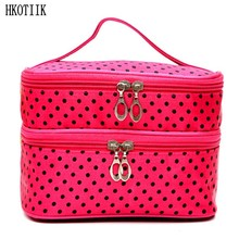 New double – layer cosmetic bag Ms. multi – functional travel accessories bag hand – wash bags portable beauty division supplies