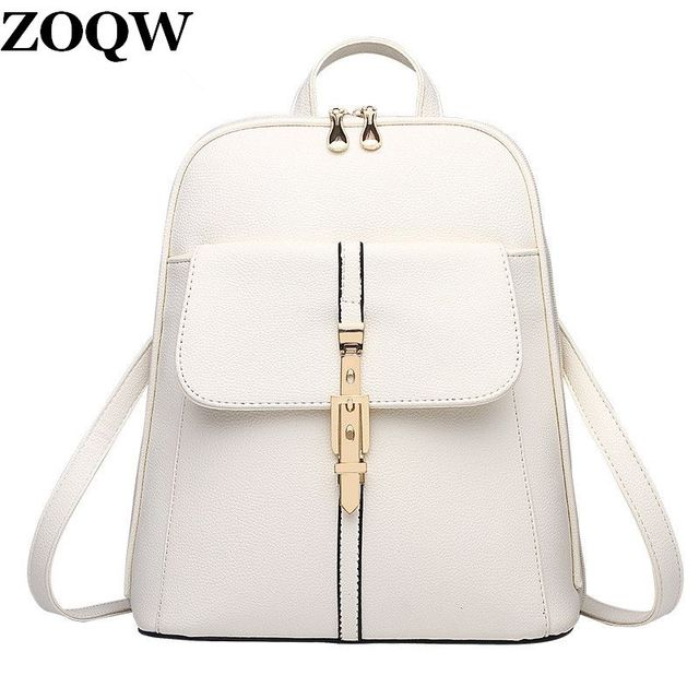 2018 Teenage Girls Backpacks Youth Fashion Black School Bag Shopping Travel  Hot Women Backpack High Quality 1f74280330