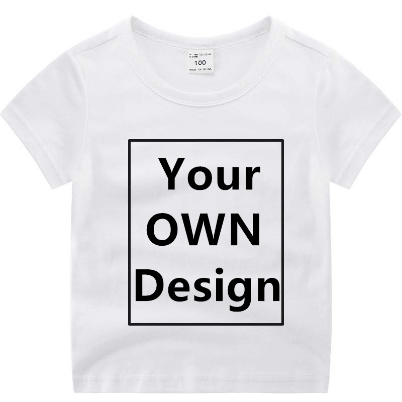 Your OWN Design Brand Logo/Picture Custom Little Boy Girl DIY Cotton T shirt Kid Short sleeve Casual T-shirt Children clothes