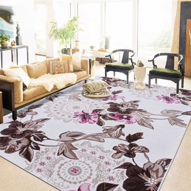 200x290CM Large Flowers Floor Carpet Rugs Red Non-Slip Sofa Table Bedside Mats Living Room Bedroom Decoration Textiles Gifts