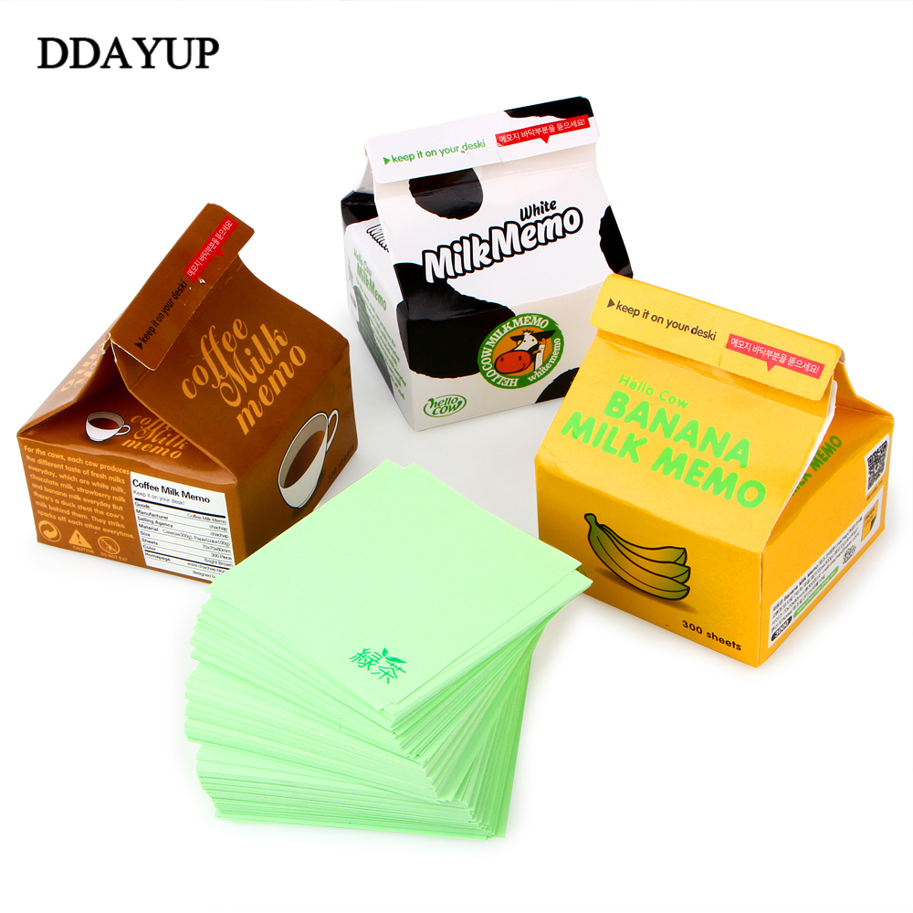 300 Sheets Milk Shape Memo Pad Kawaii Stationery Office Supplies Notepad Diy School Stationery Office Desk Decoration kawaii milk box memo pad portable coffee sticky notes memo boards message paper gift office school supplies korean stationery