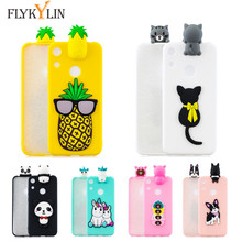 Honor 8X Silicone Phone Case For Huawei 8 X Cover for 8A A Etui 3D Cartoon Unicorn Doll Toys Cases
