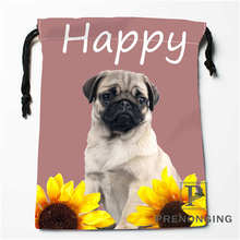 Custom Happy Dog Drawstring Bags Printing Fashion Travel Storage Mini Pouch Swim Hiking Toy Bag Size