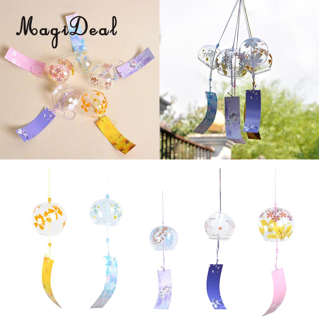 Pflichtbewusst Magideal Japanischen Stil Glas Windspiele Hängen Handwerk Wind Glocke Home Decor Sakura Kirschblüte Muster Windspiele & Hängende Dekoration Wohnkultur
