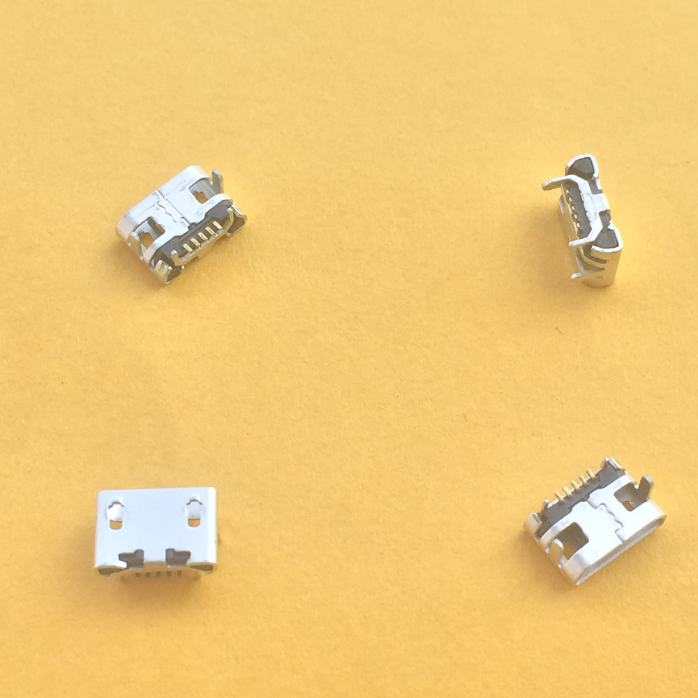 10pcs G23Y Micro USB 5pin Jack Female Socket Connector OX Horn Type for Tail Charging Mobile Phone Sale at a Loss USA 100pcs micro usb jack connector type b female 5pin tail board 0 8mm type solder socket connectors charging socket for pcb board