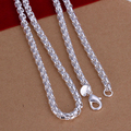 Men's jewelry 6mm 20'' 50cm 925 sterling silver necklace cool chain n053 gift pouches free shipping