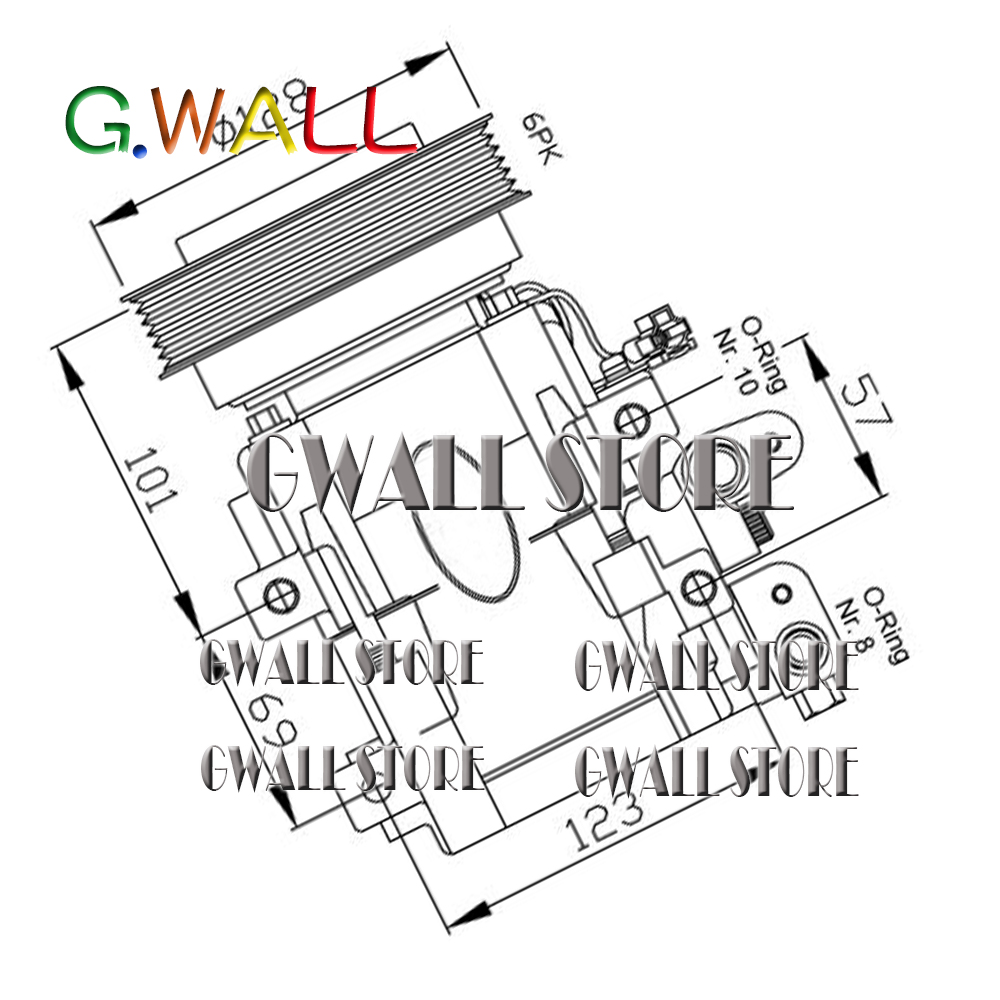 Фирменная Новинка Авто AC компрессор для hyundai Trajet 2,0 2,7 для автомобиля hyundai Santa Fe я 2,0 2,7 9770126200 9770126300
