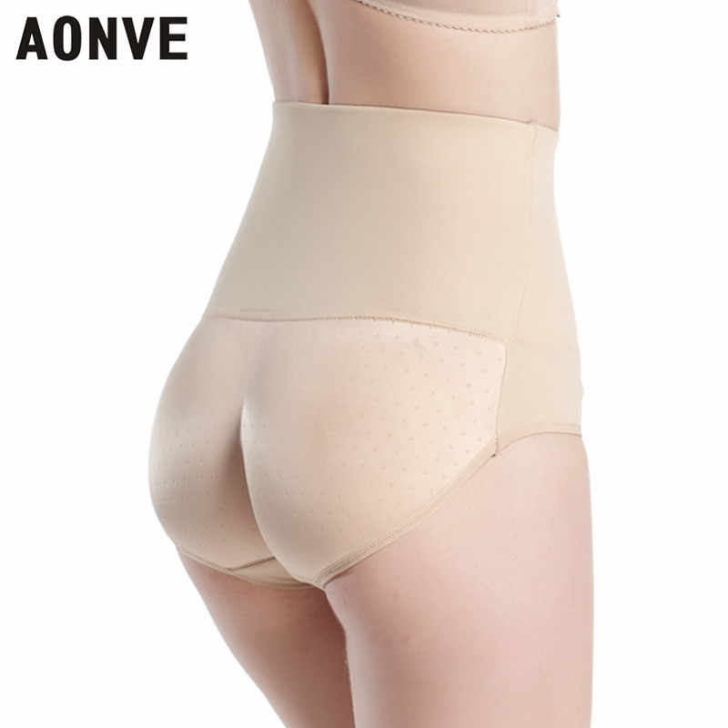 44bea6c36f3c2 AONVE Hip Up Control Panties Sexy Body Shaper Stretchy Soft Padded Butt  Lifter High Waist Trainer