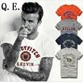 Q.E.J 2016 Новых моде Знаменитый бренд hollistic футболка мужчины 100% хлопок abercr для ombi мужчины Футболка, лето стиль футболка