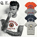 Q.E.J 2016 New fashion Famous brand hollistic t shirt men 100 % cotton abercr for ombi men T-shirt,summer style t-shirt