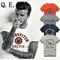 Q.E.J 2016 Nova moda Famosa marca homens hollistic camisa de t dos homens 100% algodão para abercr ombi T-shirt, estilo verão t-shirt