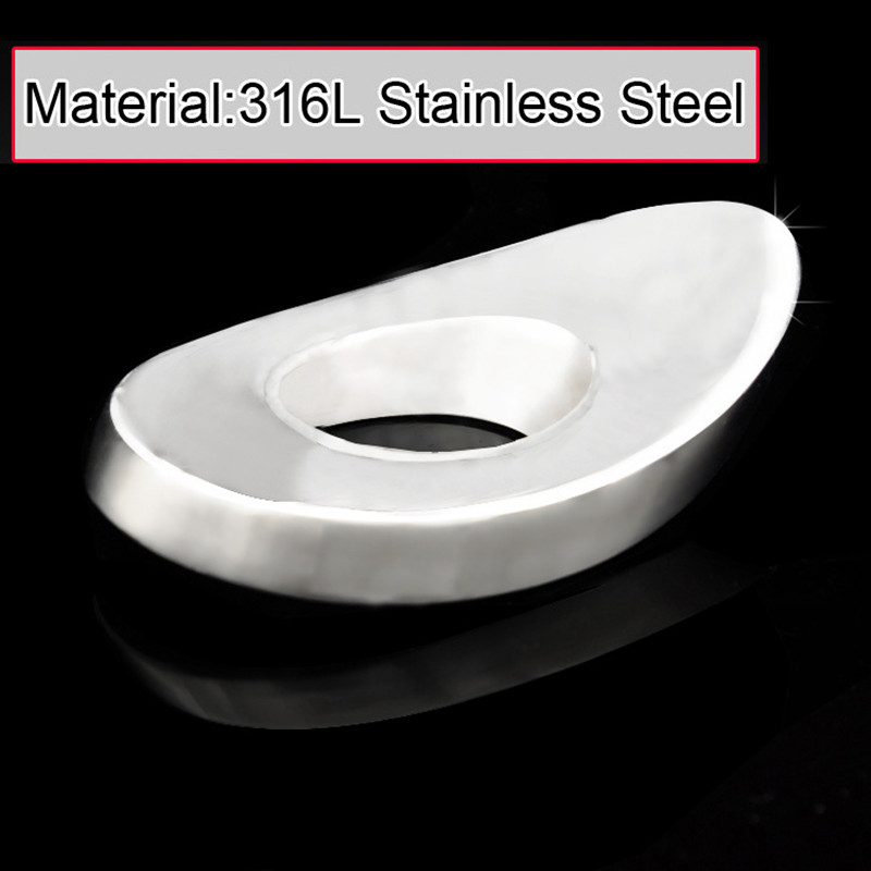 Heavy Male Stainless Steel Ligulate Delayed Gonobolia Ring Bondage Cock Testicular Penis Pendants Chastity Device  Sex Toy B54 wearable penis sleeve extender reusable condoms sex shop cockring penis ring cock ring adult sex toys for men for couple
