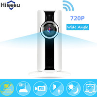 Hiseeu Hd 720p Ip Camera Wifi Wireless Fisheye Baby Monitor Mini Camara De Vigilancia Micro SD