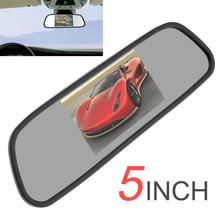 5 Inch 480 x 272 TFT LCD Color Screen Car Rear View Mirror Monitor PAL / NTSC Super Wide View Angle DC 12V / 24V