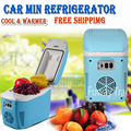 DHL Free!!!Auto Mini Car home small refrigerator 7.5L portable heating and cooling box car fridge compressor small refrigerator