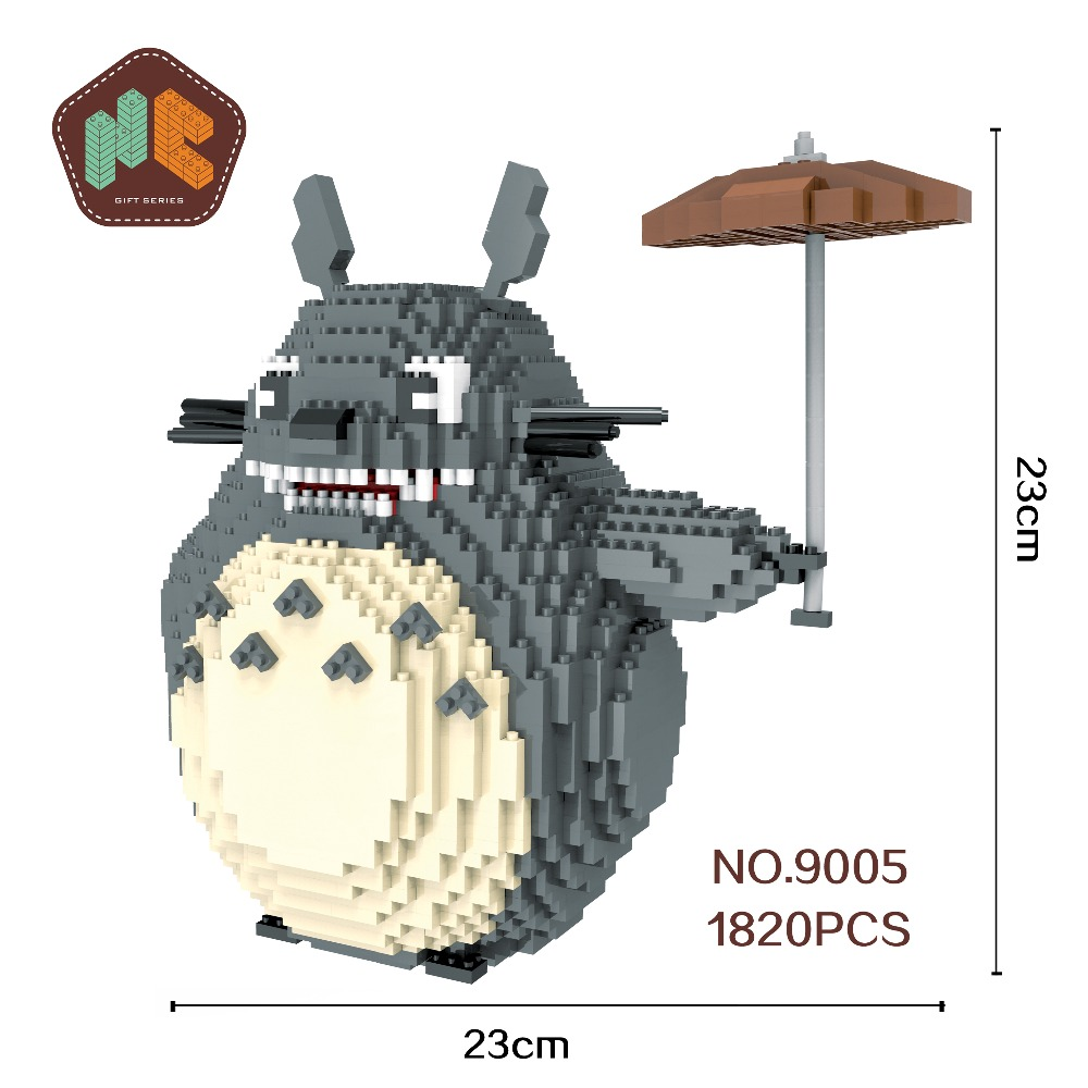 HC Big Size Blocks Totoro Mini Blocks Stitch Micro blocks Super Mario DIY Building Toys Juguetes Auction Model Kids Gifts 9005 lno big size super mario bros model action figures nano block micro diamond plastic building blocks diy bricks toys without box