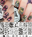1 Pc Tulip Flower Nail Stamping Plates Template Rose Flower Image Stamping Plate BORN PRETTY BP-L029 12.5 x 6.5cm