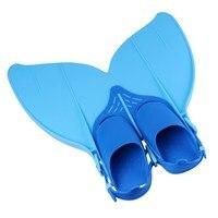 2019 New Kid Mermaid Swim Kid Swimming Fins Foot Flipper Diving Feet Tail Monofin FOR Children Water Sports Training Swim Shoes