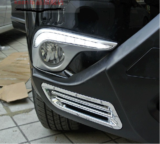 Painting DRL Daytime Running Light For Toyota Highlander/Kluger Accessories 2012 2013