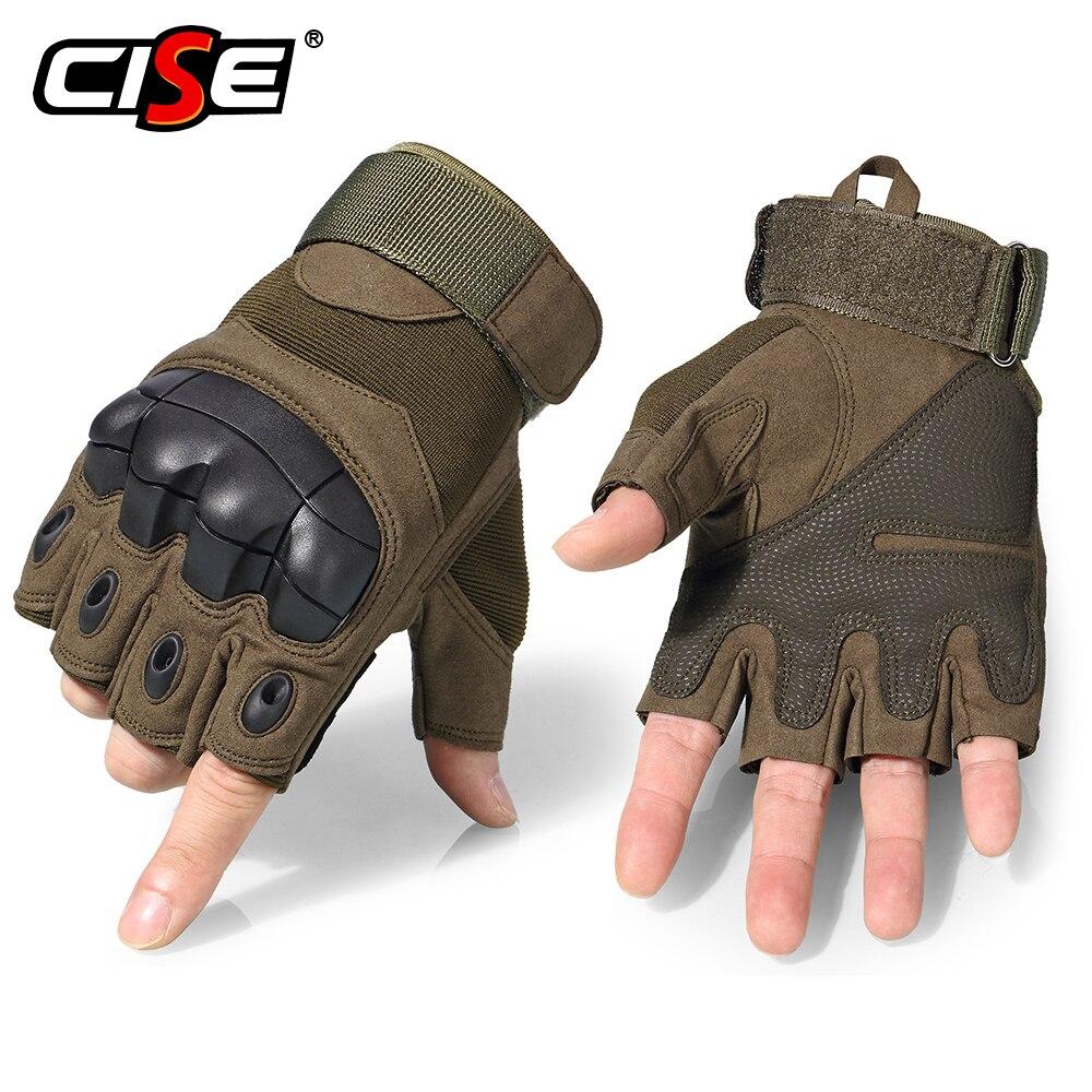 Motorcycle Fingerless Gloves Cycling Motorbike Motocross Biker Rubber Hard Knuckle Half Finger Protective Gear Men Women 2019