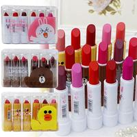 6 Colors Set Cute Lipstick Travel Set Waterproof Lipsticks 3 5g Lips Makeup Long Lasting Hydrates