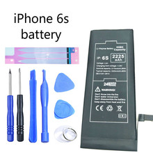 Original phone for iphone 6s rechargeable battery built-in lithium ion 2225 mA with repair kit and battery sticker 3 7v battery 9045502500 ma gps navigator built in battery walkie talkie bluetooth audio rechargeable lithium battery