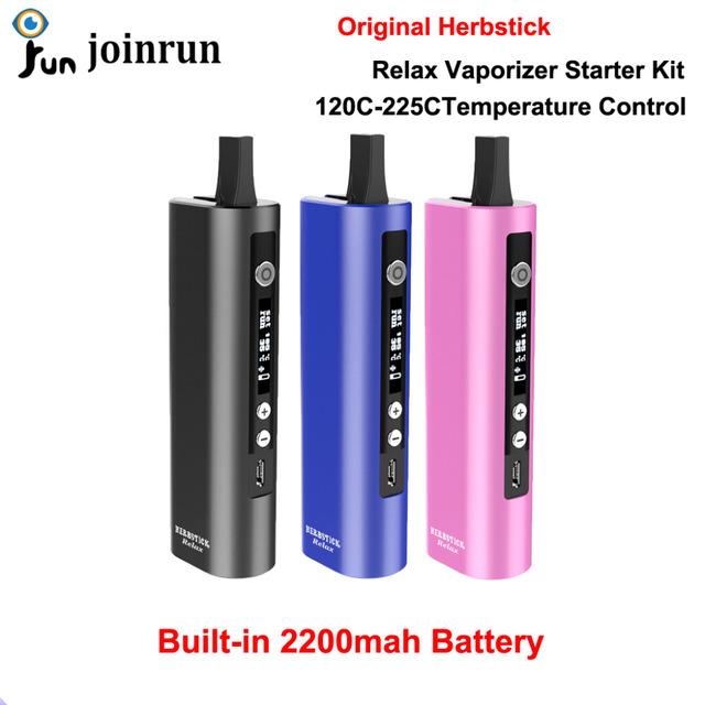 Relajarse Herbstick Vaporizador Starter Kit de Cigarrillo Electrónico Hierba Seca A Base de Hierbas Pluma Vape Portátil 2200 mah de La Batería de Control de Temperatura